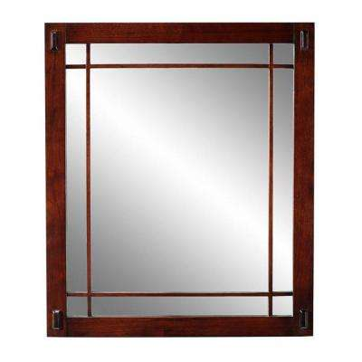 Artisan 26 in. H x 30 in. W Mirror in Dark Oak-DISCONTINUED