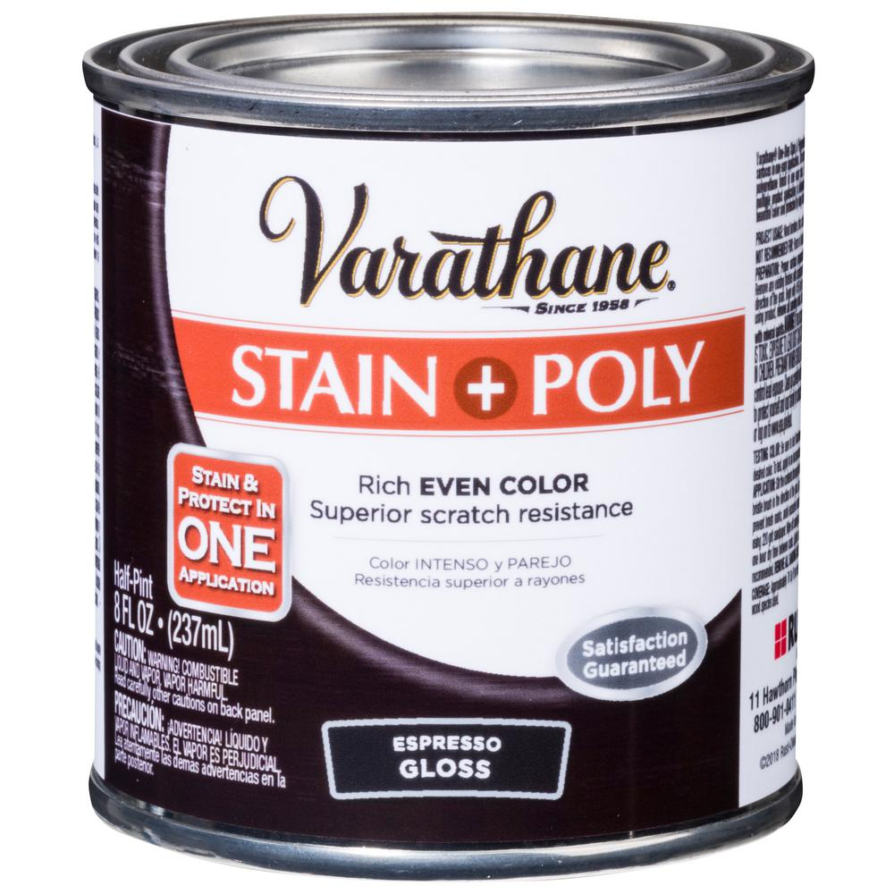 Varathane 1 hp. Espresso Gloss Water-Based Interior Stain and Polyurethane (4-Pack)