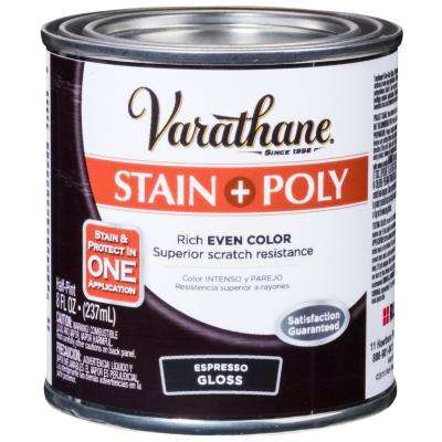 1 hp. Espresso Gloss Water-Based Interior Stain and Polyurethane (4-Pack)