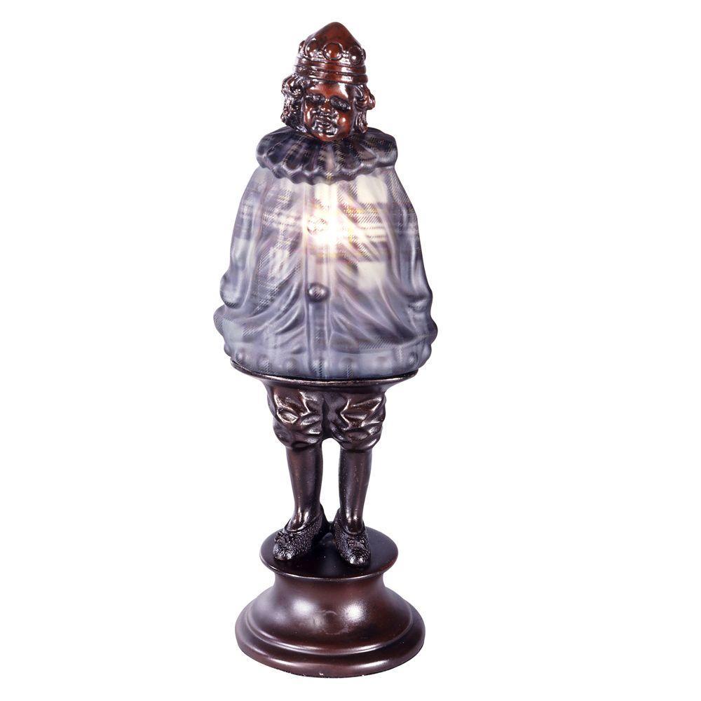 Scotch Boy Blown Glass 12.5 in. Antique Bronze Accent Lamp