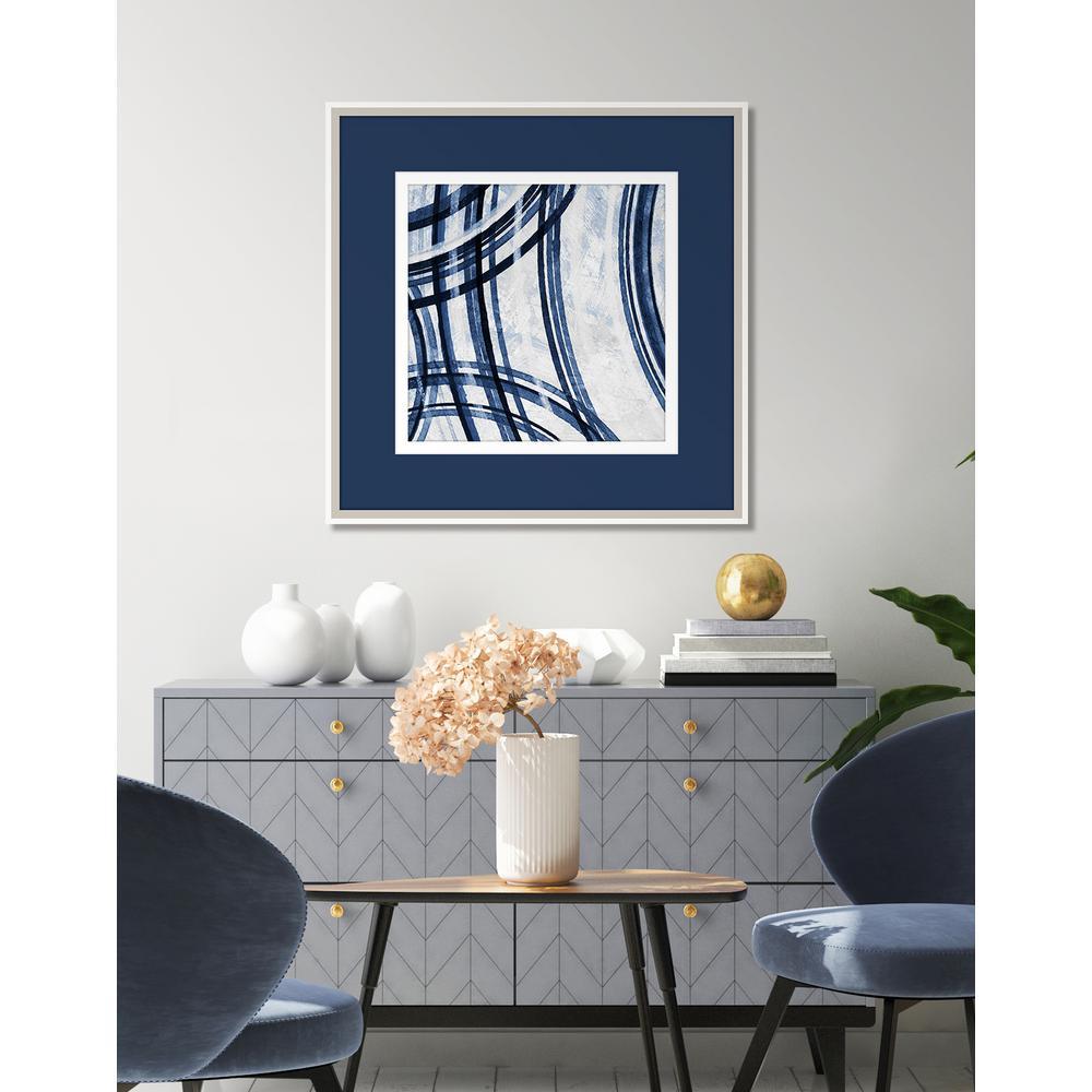 Concentric Indigo IV Framed Giclee Wall Art