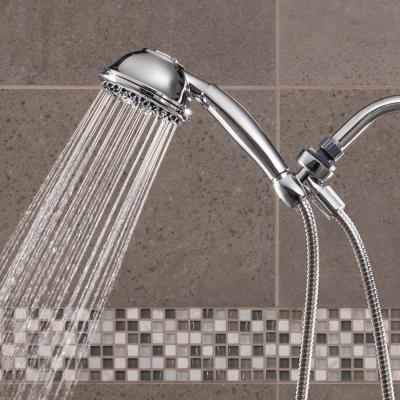9-Spray 4.5 in. Single Wall Mount Low Flow Handheld Rain Shower Head in Chrome