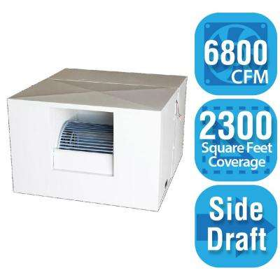 6,800 CFM Side-Draft Rigid Roof/Side Evaporative Cooler for 20 in. Ducts 2,300 sq. ft. (Motor Not Included)
