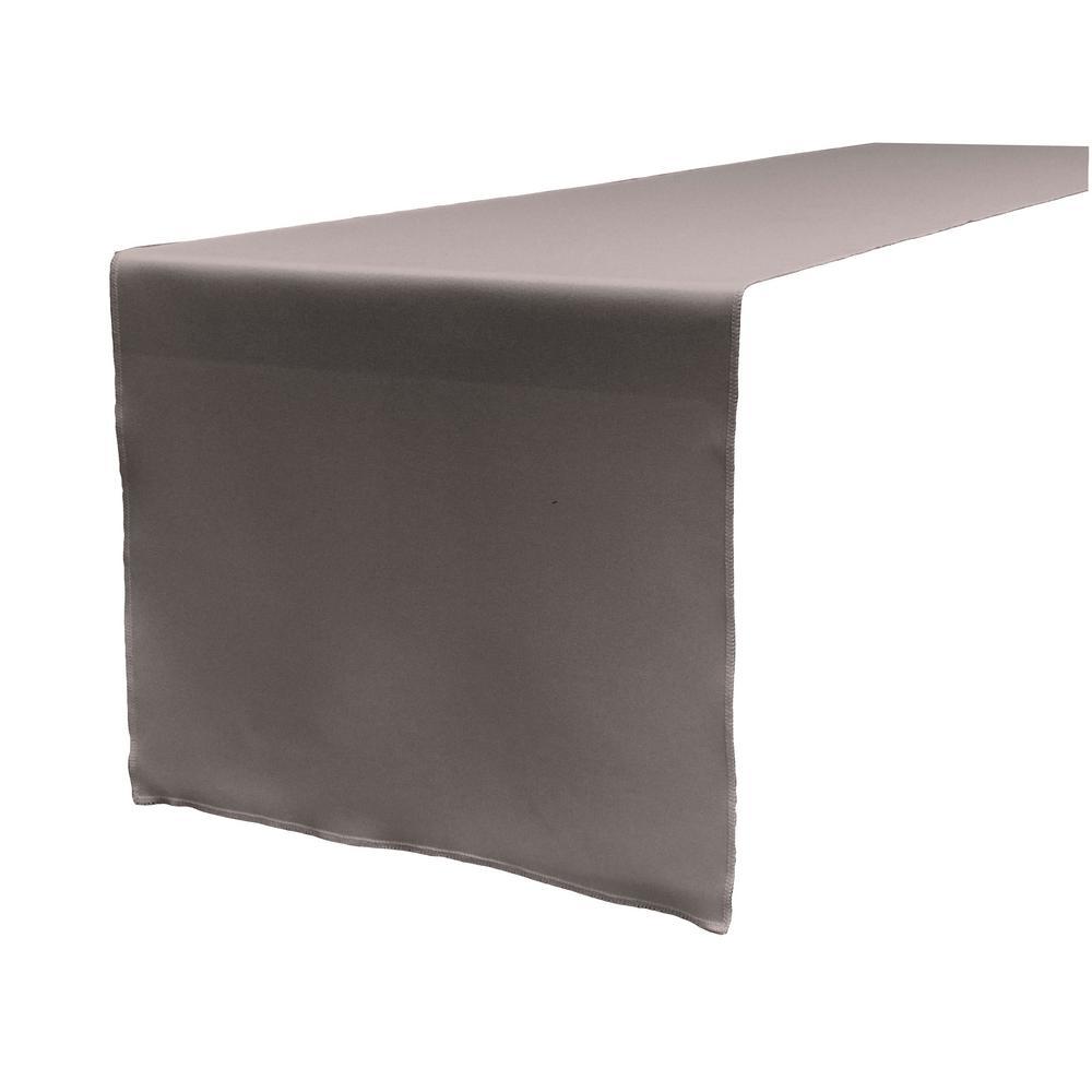 14 in. x 108 in. Dark Gray Polyester Poplin Table Runner