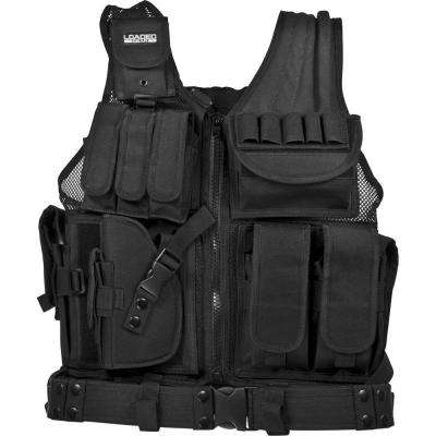 Loaded Gear 25.5 in. VX-200 Left-Handed Tactical Vest, Black