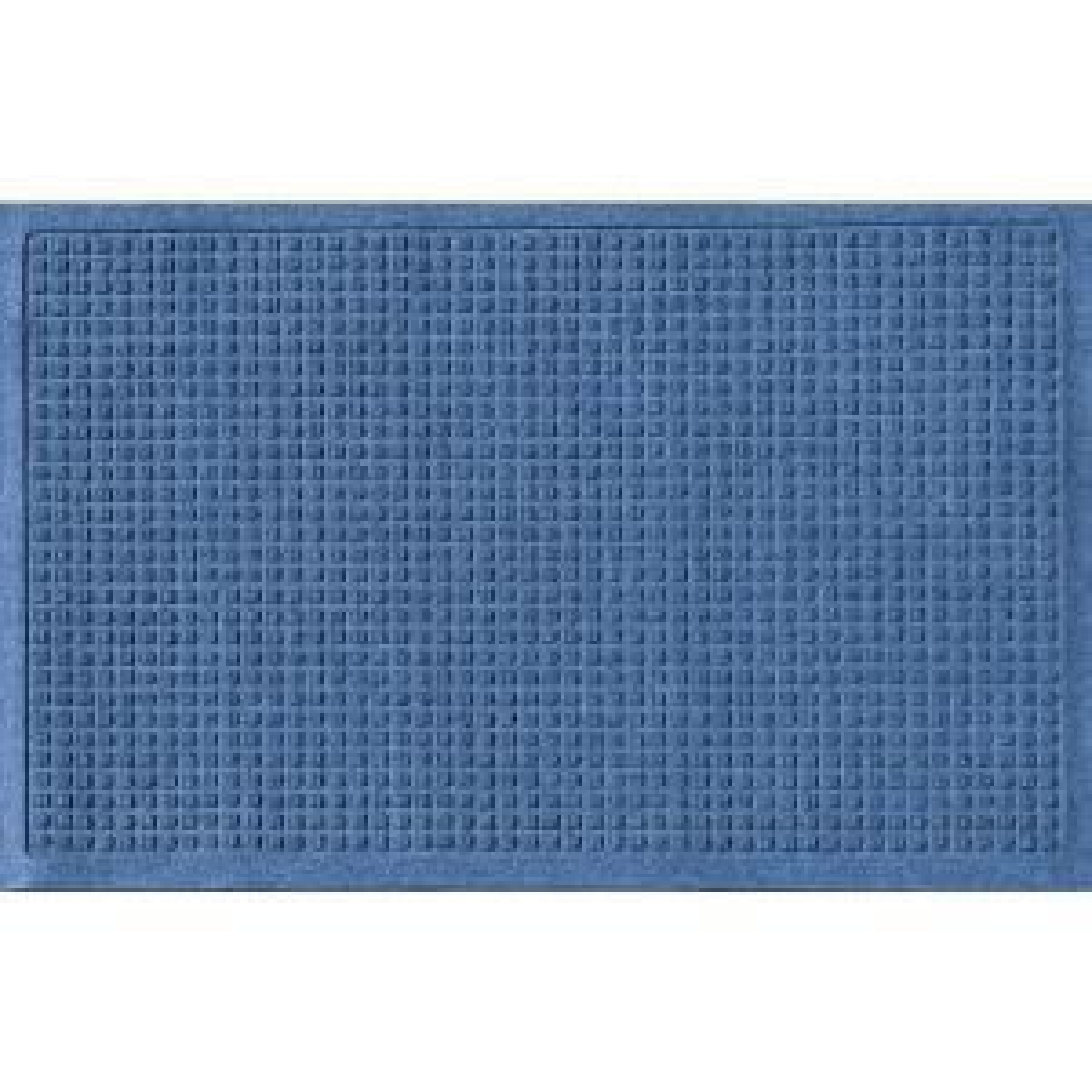Aqua Shield Navy 24 inch x 36 inch Squares Polypropylene Door Mat by Aqua Shield