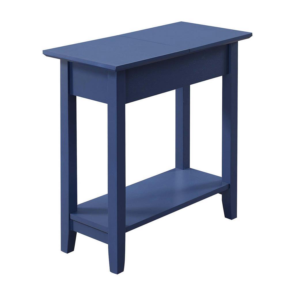 American Heritage Cobalt Blue Flip Top End Table