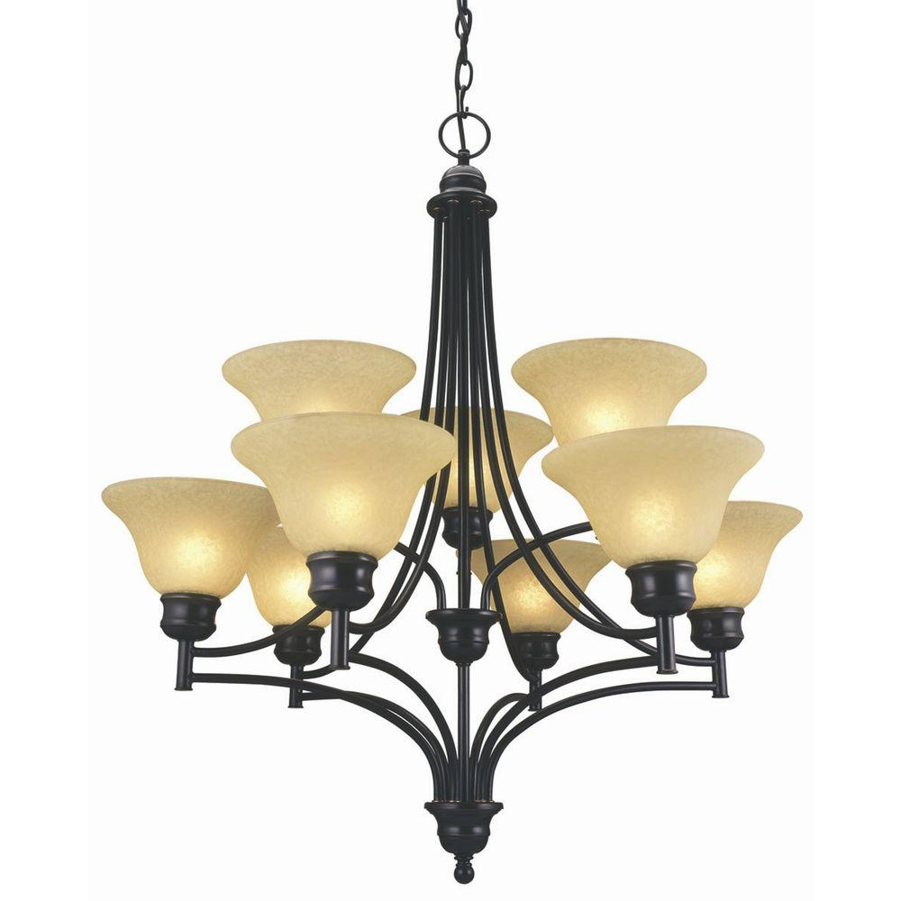 Design House Bristol 9-Light Oil Rubbed Bronze Chandelier
