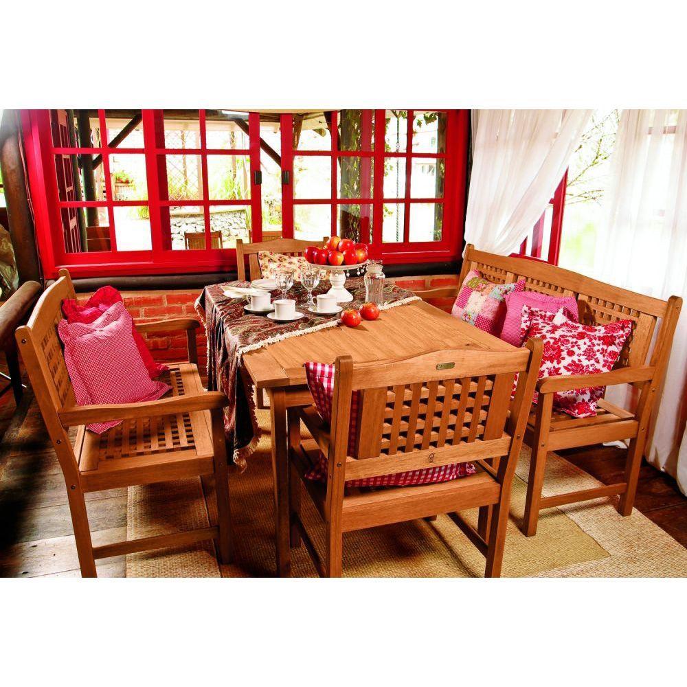 Amazonia Milano Porto 5-Piece Rectangular Patio Dining Set