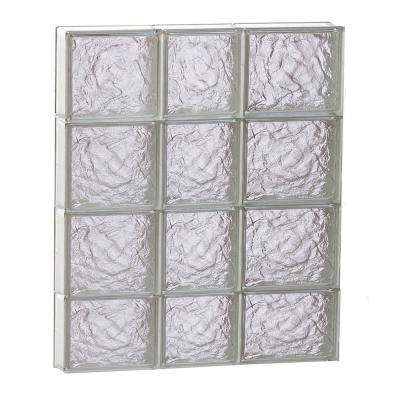 21.25 in. x 29 in. x 3.125 in. Frameless Ice Pattern Non-Vented Glass Block Window