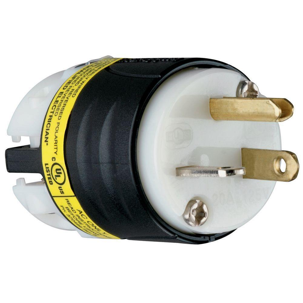 20 Amp 125-Volt Ground Circuit Monitor Plug
