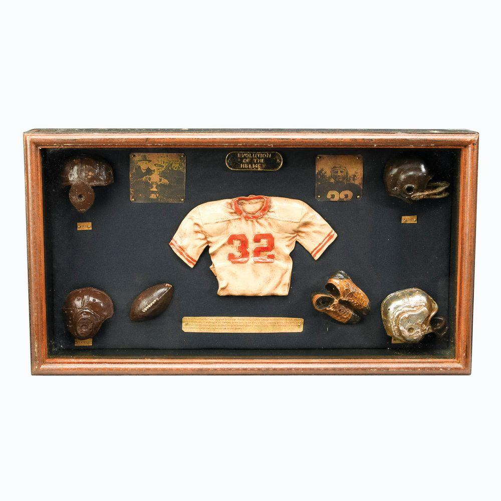 Antique Reproductions 12 in. Football Shadow Box