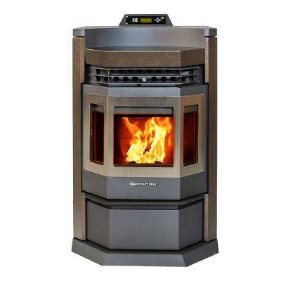 2800 sq. ft. EPA Certified Pellet Stove with 80 lbs. Hopper and Programmable Thermostat in Bronze/Stainless Steel Trim