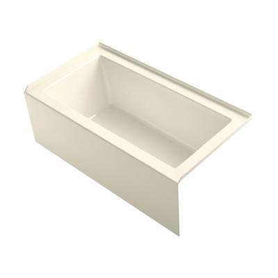 Underscore 60 in. Rectangular Apron Front Right Drain Bathtub in Almond