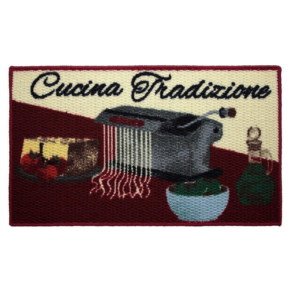 Cucina Tradizione 18 in. x 30 in. Textured Oblong Accent Kitchen