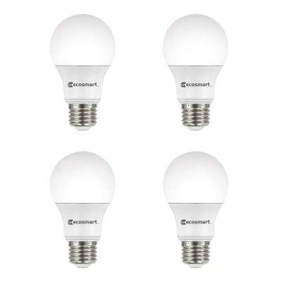 60 Watt Equivalent A19 Dimmable Energy Star LED Light Bulb Daylight (4 Pack