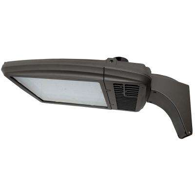 167-Watt Bronze Integrated LED Outdoor Area Light, Type V, 5000K CCT, Arm Mount