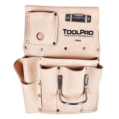 8-Pocket Right Handed Top Grain Leather Drywall Pouch