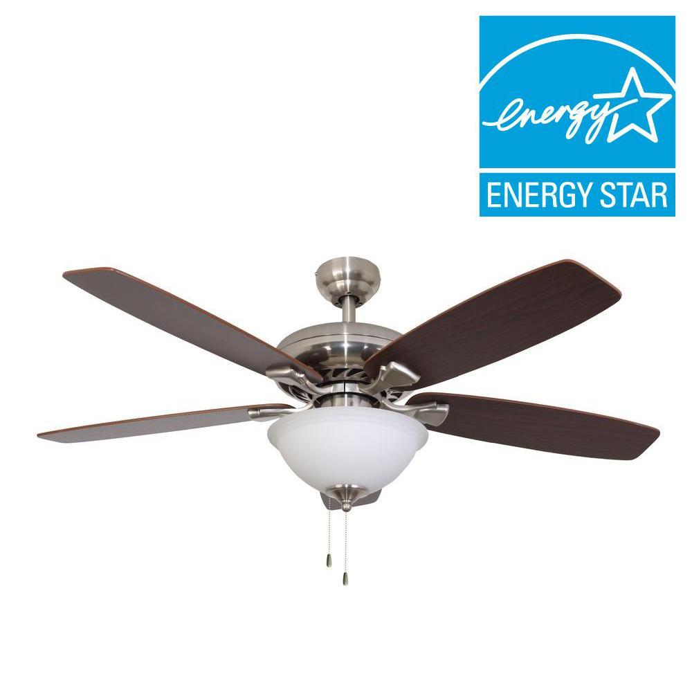 Ardmore 52 in. Brushed Nickel ENERGY STAR Ceiling Fan