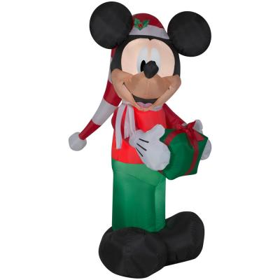 6 ft. Inflatable Mickey in Stocking Hat Christmas