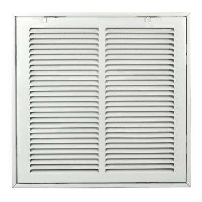 8 in. x 8 in. Steel Return Air 1 in. Filter Grille, White Grille