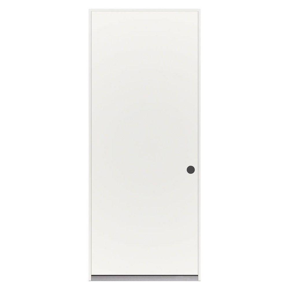home depot prehung exterior door. Flush Primed Steel Prehung Left Hand Inswing 36 in  x 80 Front