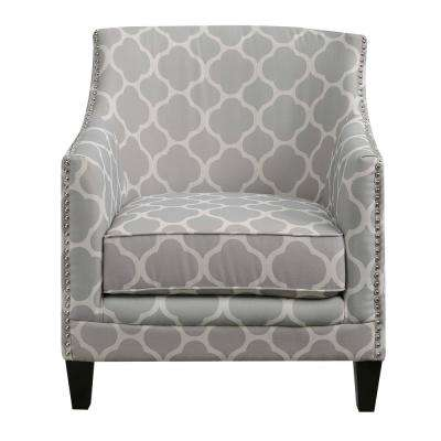 Gray Print Accent Chairs