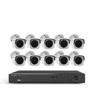 16-Channel 4MP 3TB IP NVR Surveillance System (10) 4MP Bullet Cameras with Remote View