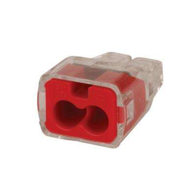 In-Sure Push-In Wire Connector, 2-Port - Red (100 Per Bag, Standard Package is 3 Bags)