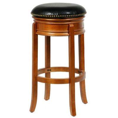 Bristol 29 in. Oak Swivel Bar Stool