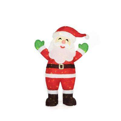 christmas warm white led traditional santa - Santa Claus Christmas Decorations