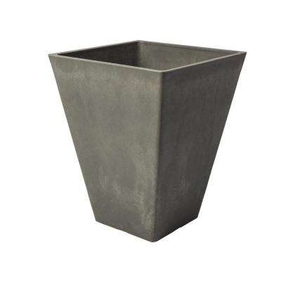 Valencia 14 in. Square Charcoal Polystone Planter