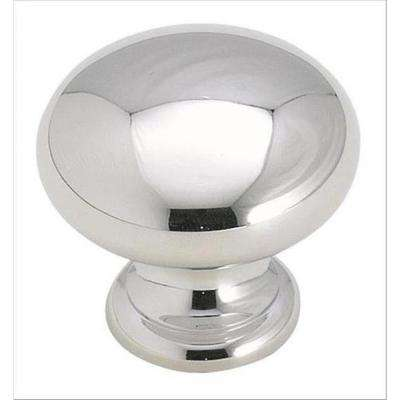 Brass Classics 1-1/4 in (32 mm) Diameter Polished Chrome Cabinet Knob