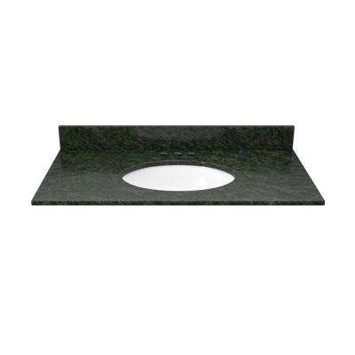 31 in. Granite Vanity Top in Blue Butterfly with White Basin