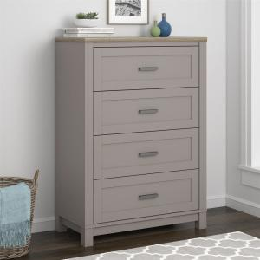 wholesale dealer f86b1 fc9ee Ameriwood Viola Gray/Light Brown 4-Drawer Dresser HD32340 ...