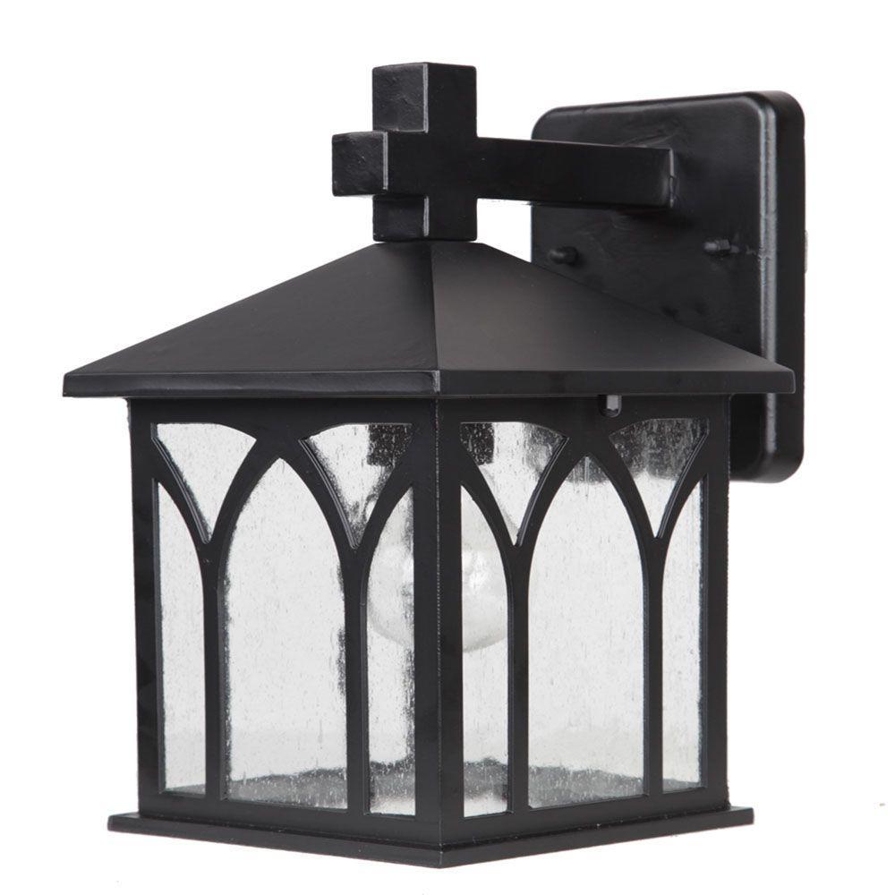 Builder's Choice Collection 1-Light Matte Black Outdoor Wall Mount Light