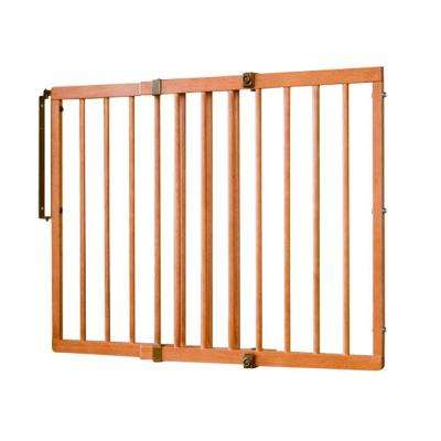 30.5 in. H x 29.5 in. to 49.5 in. W x 2 in. D Wood Safety Gate Colonial Maple