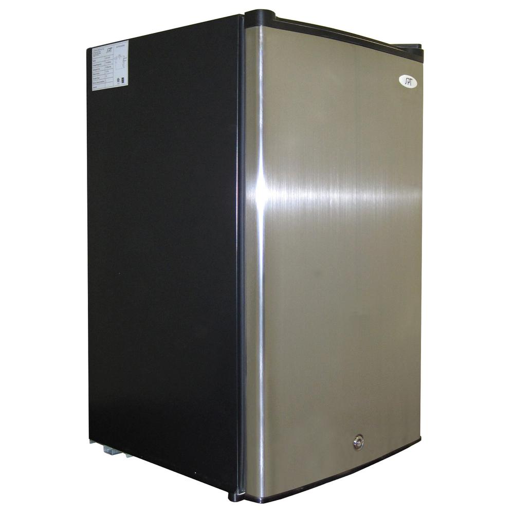 3.0 cu. ft. Upright Freezer in Stainless Steel/Black