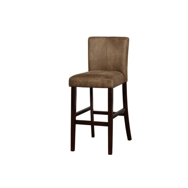 Linon Home Decor Boston 30 in. Distressed Brown Bar Stool THD00563