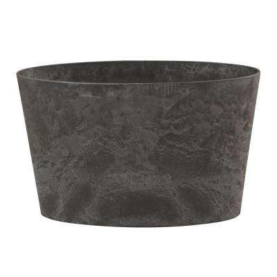 Napa 26 in. x 11 in. Oval Black Resin Planter