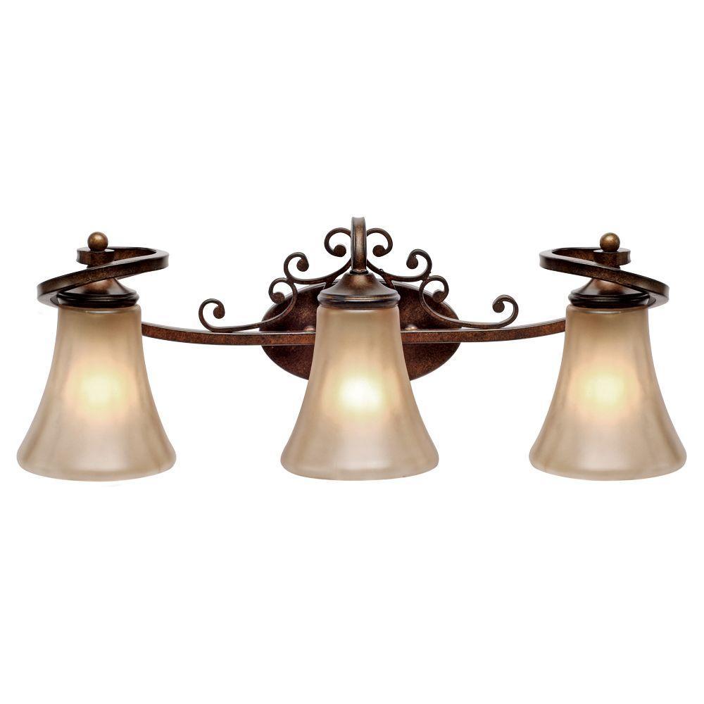 Lorretto Collection 3-Light Russet Bronze Bath Vanity Light