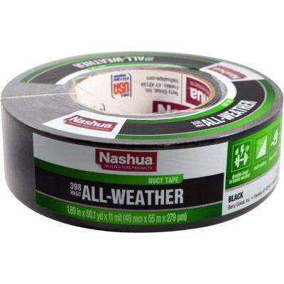1.89 in. x 60 yd. 398 All-Weather HVAC Duct Tape in Black