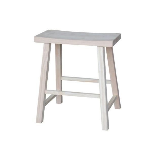 International Concepts 24 in. Unfinished Wood Bar Stool 1S-682