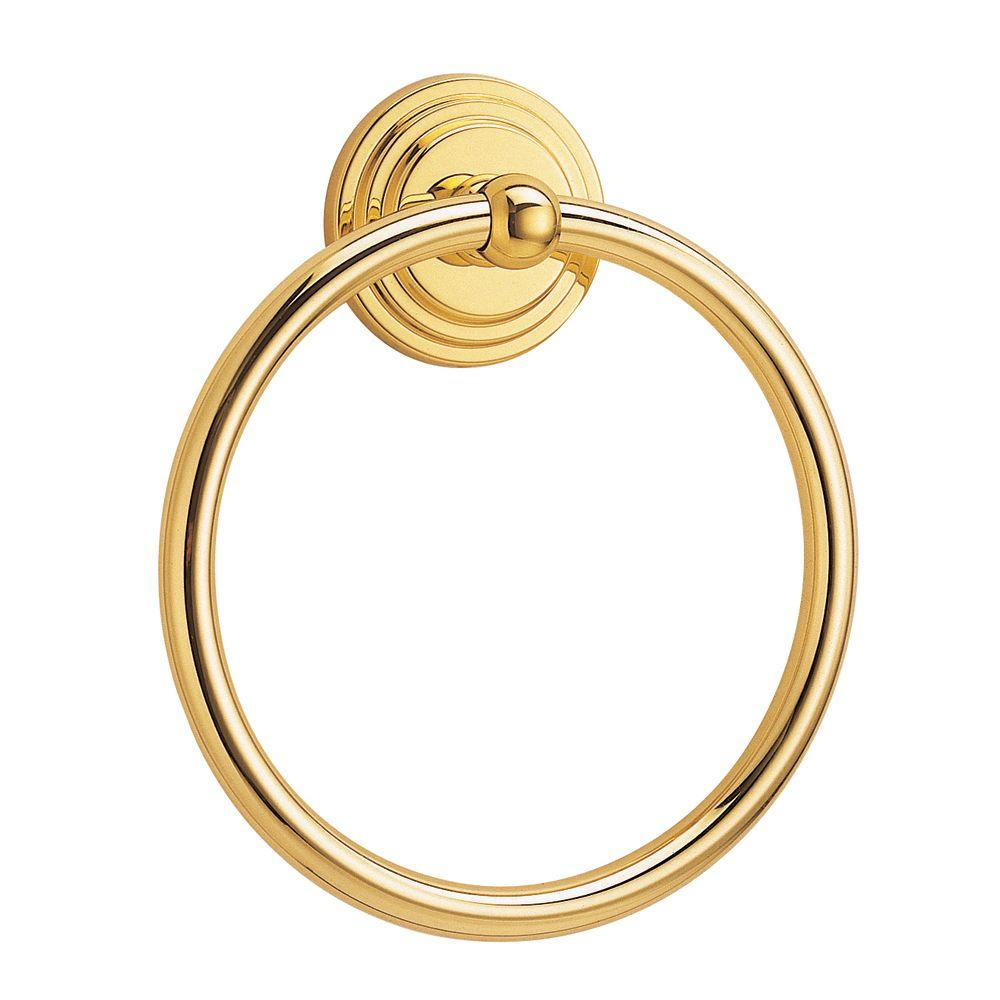 Gatco Marina Towel Ring in Polished Brass-DISCONTINUED