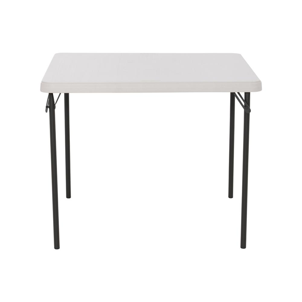 Lifetime 37 In Commercial Almond Square Resin Table 80829 The Home Depot
