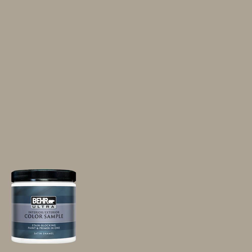 Behr Ultra 8 Oz Home Decorators Collection Hdc Nt 14 Smoked Tan Satin Enamel Interior Exterior Paint Primer Sample