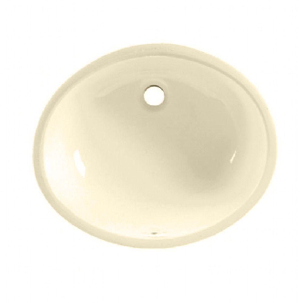 American Standard Ovalyn Undermount Bathroom Sink In Bone - American standard undermount bathroom sinks
