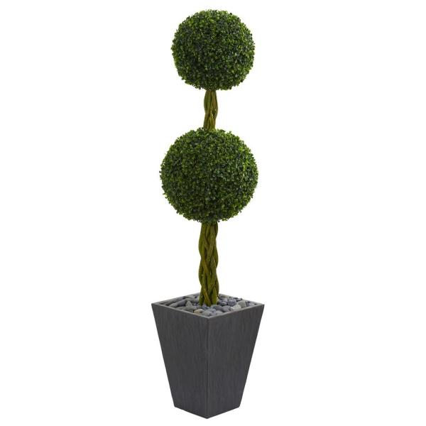 Nearly Natural 5 Ft High Indoor Outdoor Double Ball Boxwood