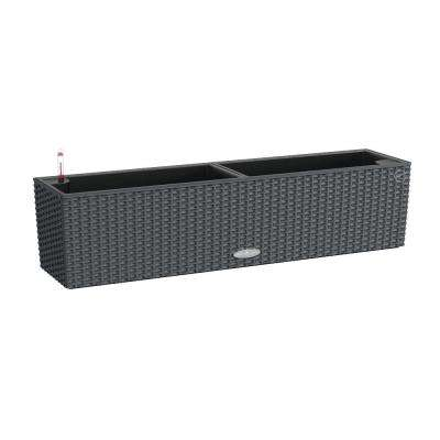 Trend Balconera Cottage 31 in. x 7 in. Rectangle Granite Balcony Self Watering Plastic Planter
