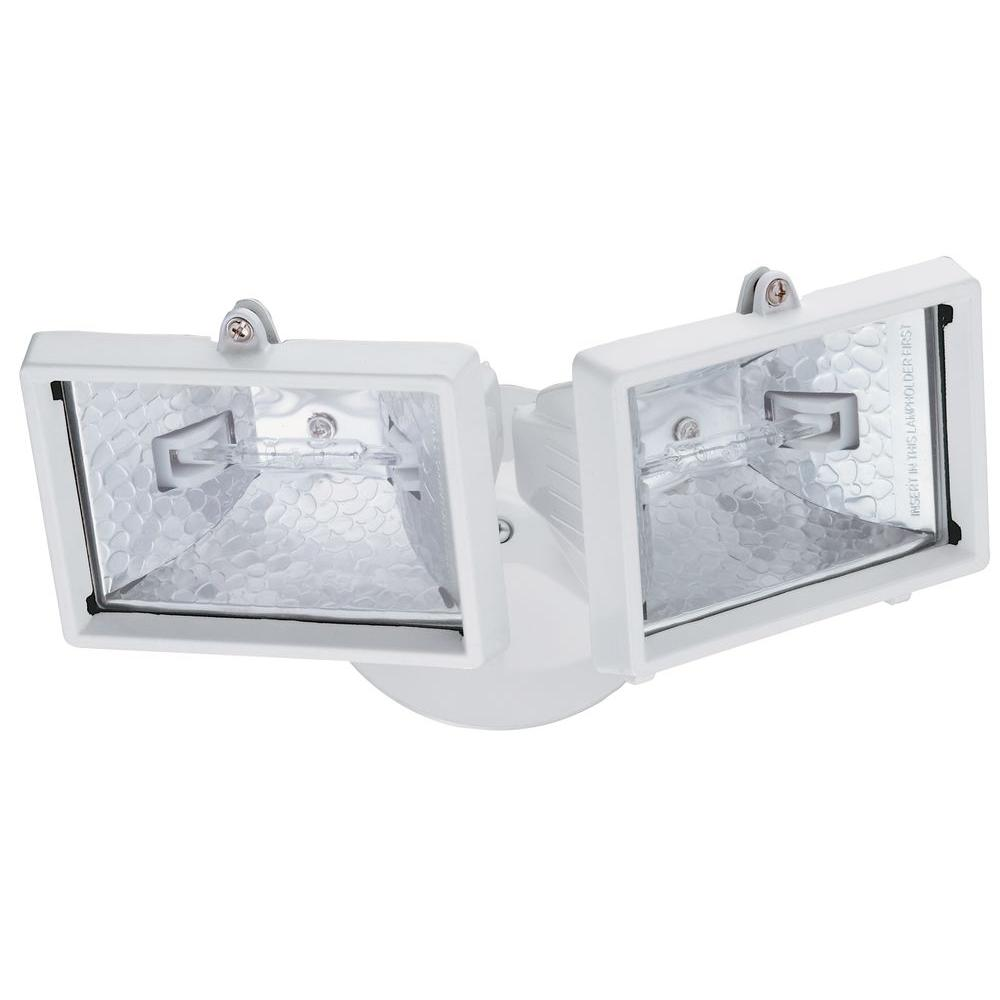 Lithonia Lighting 2-Lamp White Outdoor Flood Light-OFTM